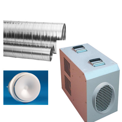 FF29 Industrial Heater with Galvanised Ducting Kit