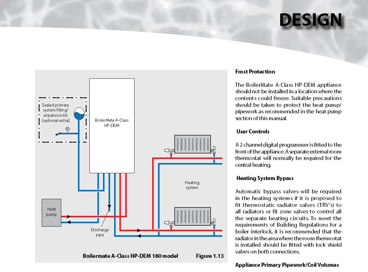Boilermate A Class Hp Dem Mitsubishi Vrf Wiring Diagram The Appliance Should Not Be Installed In Location Where Contents Could Freeze Suitable Precautions Taken To