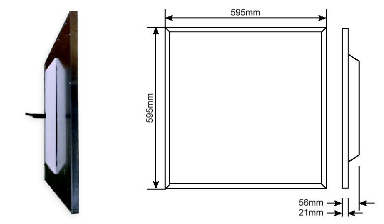 Dimensions of Flat Panel LED Light: