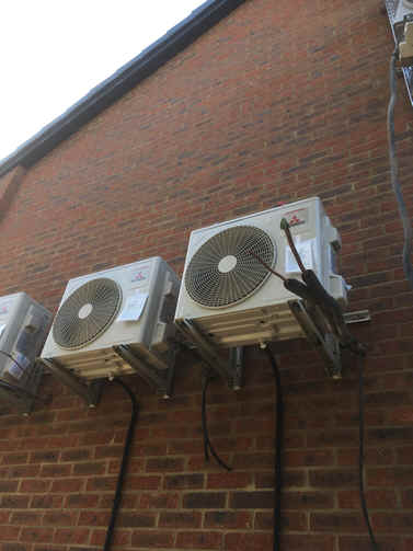 Outdoor Air conditioning Heat-pump MHI inverters R32